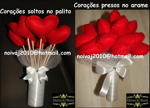 1 Bouquet Corações